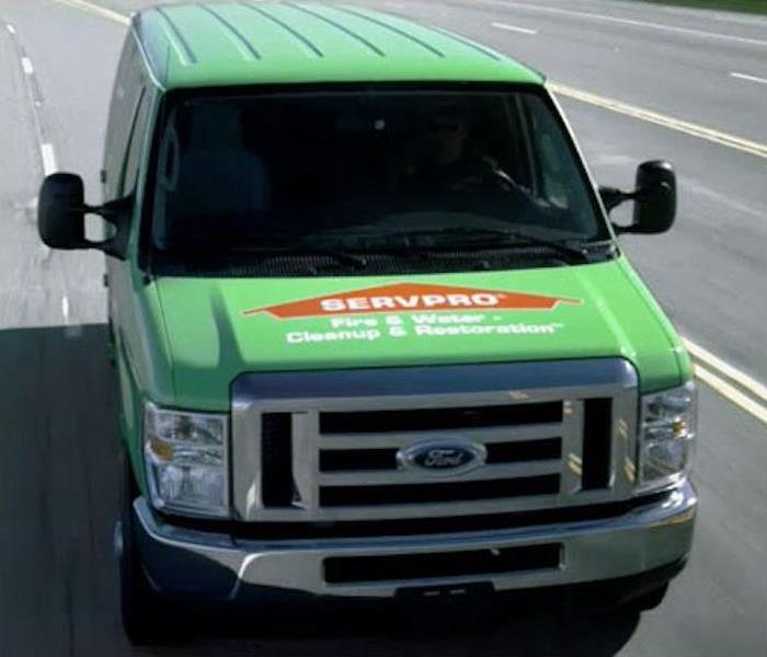 Servpro van on freeway